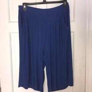Slinky Brand Blue Long Shorts Culottes 1X